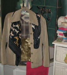 Kozna jakna+kozna torba+marama