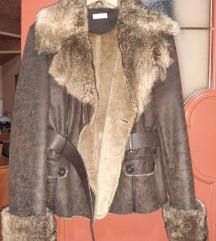 Ženska braon jakna