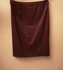 Bordo poslovna suknja