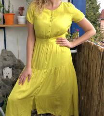 C&A žuta satenska haljina