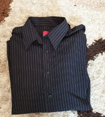 Muška crna prugasta košulja dugih rukava