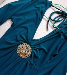 Elegantna tirkizna tunika/haljina