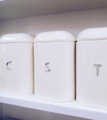 Set kutija za kafu, šećer i čaj