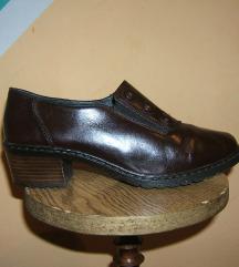 RIEKER kožne cipele mokasine vel 6 1/2 (39,5)