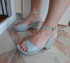 PAOLA FERRI kozne plave sandale na platformu