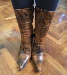Braon cizme sa stiklom br. 36