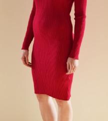 Roze uska haljina