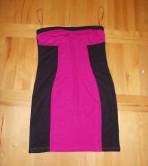 C&A crno roza haljina XL vel