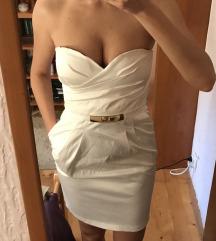 Bela satenska haljina