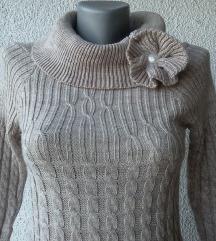 džemper drap široka rolka br XS ili S