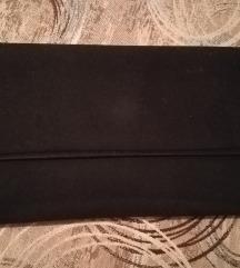 Crna plišana pismo torbica