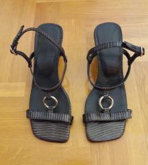 Kožne navy sandale