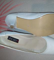 Bele kozne cipele 7cm peta - br39