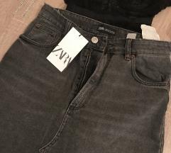 Zara teksas suknja- novo