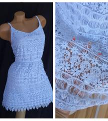 H&M DIVIDED ❀ čipkana svetloplava haljina NOVO