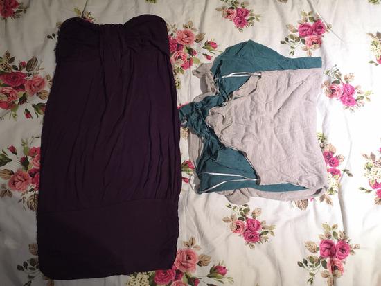 Dve Bershka majice/haljine i poklon top haljina