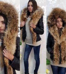 Kozna jakna sa bogatim krznom