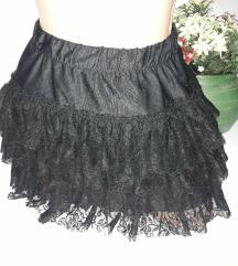 Crna suknja vel  xS