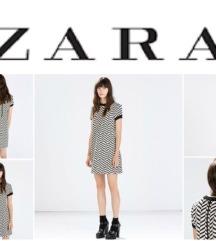 *** ZARA *** crno bela haljina M - L