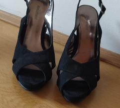 Plisane sandale na stiklu