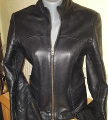 Crna kozna jakna L