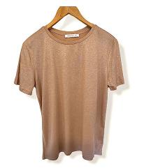 Majice sa sljokicama siva i boje breskve