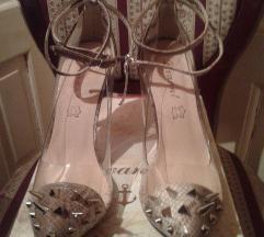 * NOVO * Cipele - bodlje, zmijski print, PVC