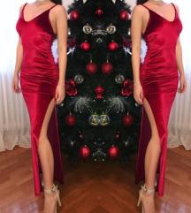 Duga crvena haljina UVIVERZALNA