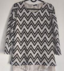 Bluza končana crno bela S