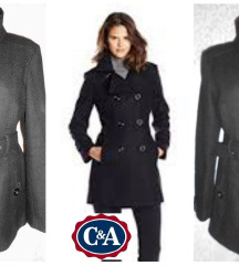 crni kaput CA vel M kao nov