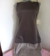 Katrus zelena haljina sa kozom M