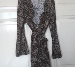 Animal print haljina na preklop