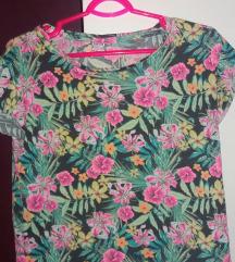 Y.F.K. Majica crop cvetna