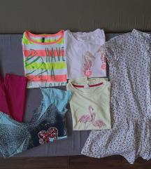 Paket za devojcicu od 11-12god-majice,haljina
