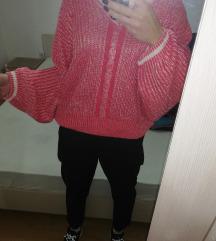 Pink beli dzemper XL