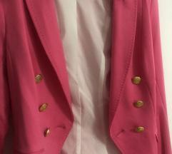 H&M pink sako 34 novo