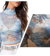 SNIŽENO! 750 RSD Plava majica sa printom anđela