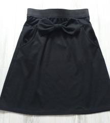 Crna suknja sa masnom