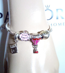 Pandora Love travel narukvica, S925, NOVO