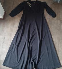 Crna maxi haljina, 48, NOVO