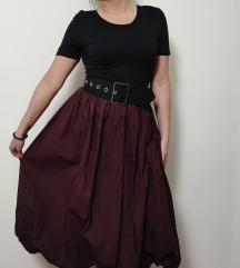 ZARA balon burgundy haljina NOVO