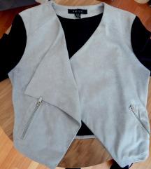 AMISU bež-crni sako sa zipovima / vel. 36
