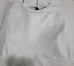 Rebrasta bluza crop top