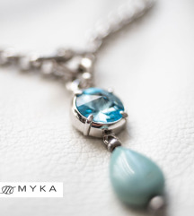 MYKA Chain & Large Rivoli Detachable Pendant