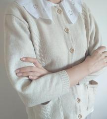 Krem vintage džemper
