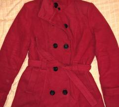 *snizeno* Crveni kaput sa krznom