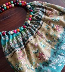 Sarena torba sa drvenim perlama