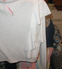 Zara bela bluza sa karnerom S