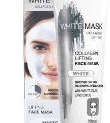 Maska sa belom glinom za zatezanje kože lica