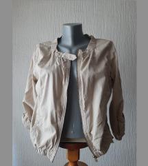 Kratka lagana krem jakna